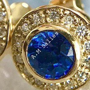 Salies-jewellery – salies-jewellery – oyal Blue Sapphire Halo earrings