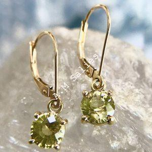 Salies-jewellery- Yellow Sapphire earrings
