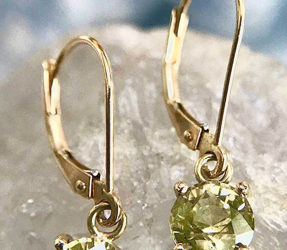 Salies-jewellery- Yellow Sapphire earrings
