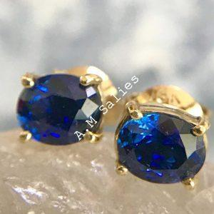 Salies-jewellery - Royal Blue Sapphire earrings