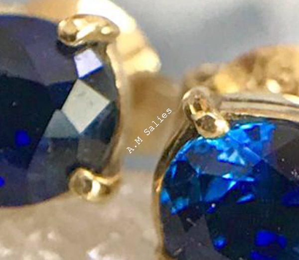 Salies-jewellery - Royal Blue Sapphire earrings