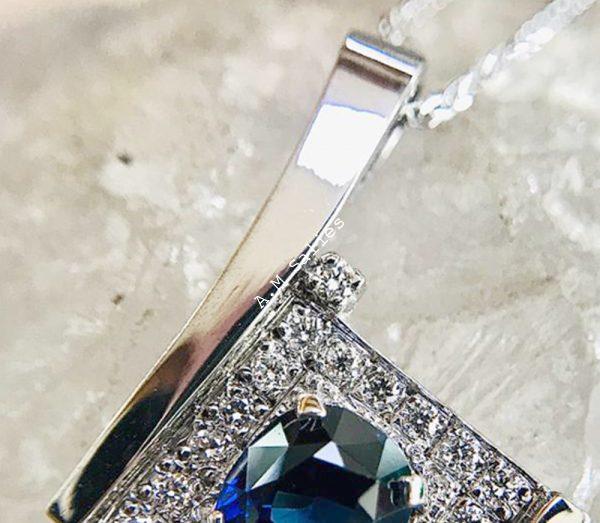 Salies-jewellery - Royal Blue Sapphire Pendent