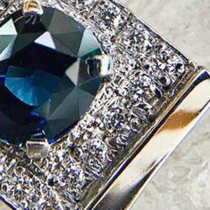 Salies-jewellery – Royal Blue Sapphire Pendent