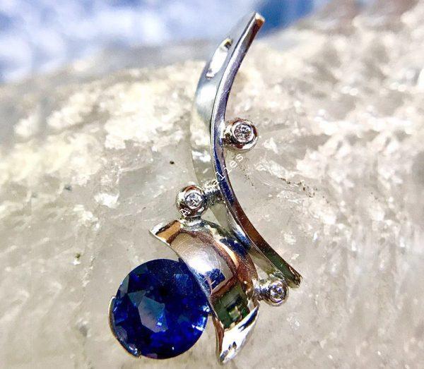 Salies-jewellery- Royal Blue Sapphire Pendent