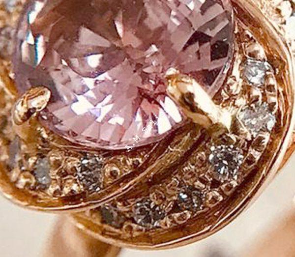 Rose Padperajah sapphire Ring