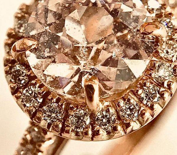 Salies-jewellery-Baby Pink Sapphire Halo ring