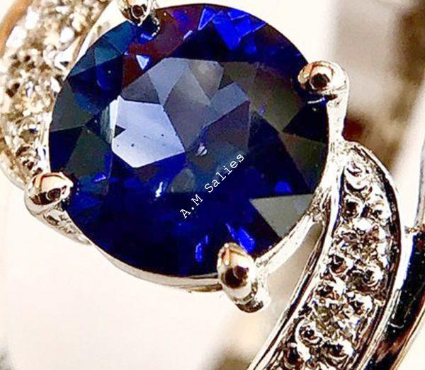 Royal Blue Sapphire Ring