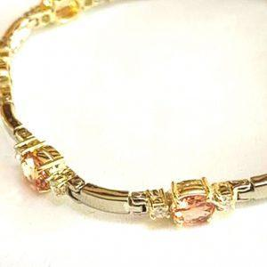 Salies Jewellery Combination Yellow and White Gold 14 karat Gold Bracelet