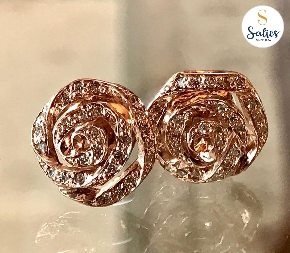 All Rose and Diamond earrings