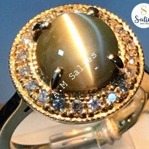 Cats eye ring by salies jewellery