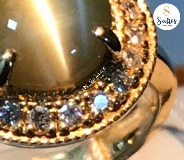 Cats eye ring by salies jewellery