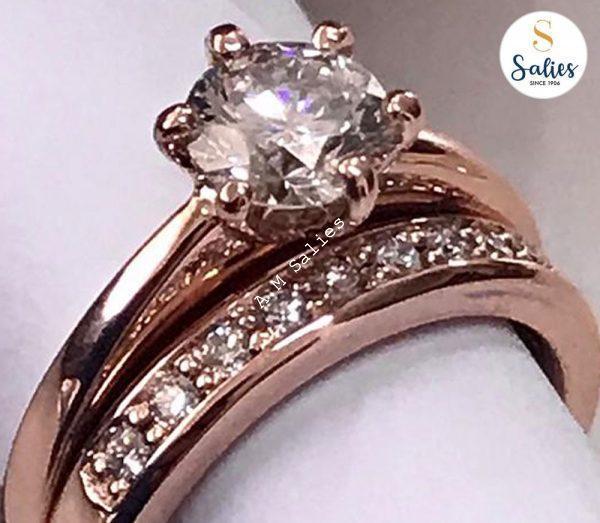 Diamond engagement ring set by Salies jewellery