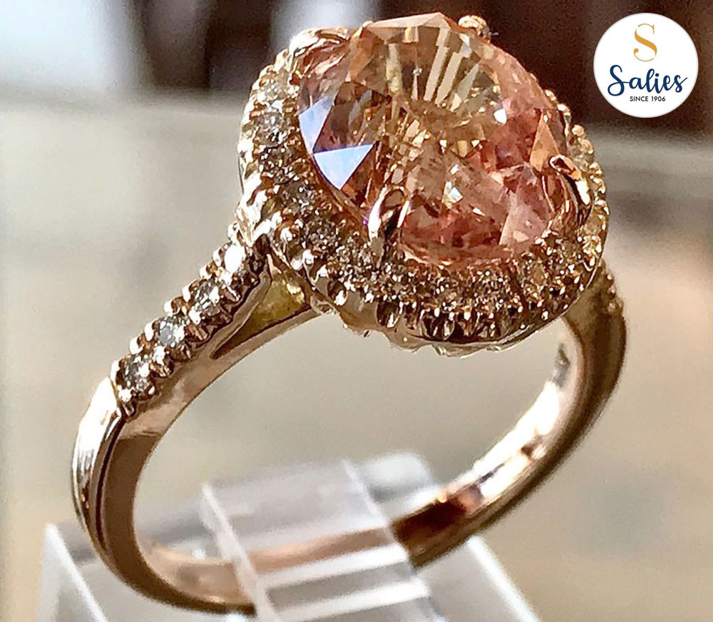 Padperajah ring by Salies jewellery