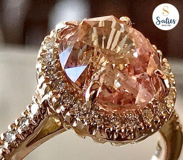 Padperajah ring by Salies jewellery