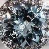 Sea blue aquamarine ring