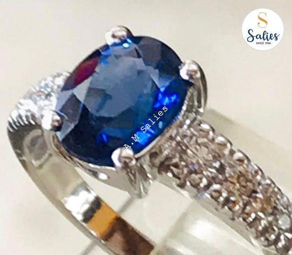14-k-paladium-white-gold-set-with-Diamonds-and-Genuine-blue-sapphire