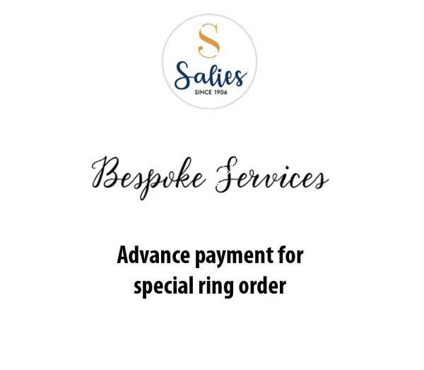 advance payment for special ring order