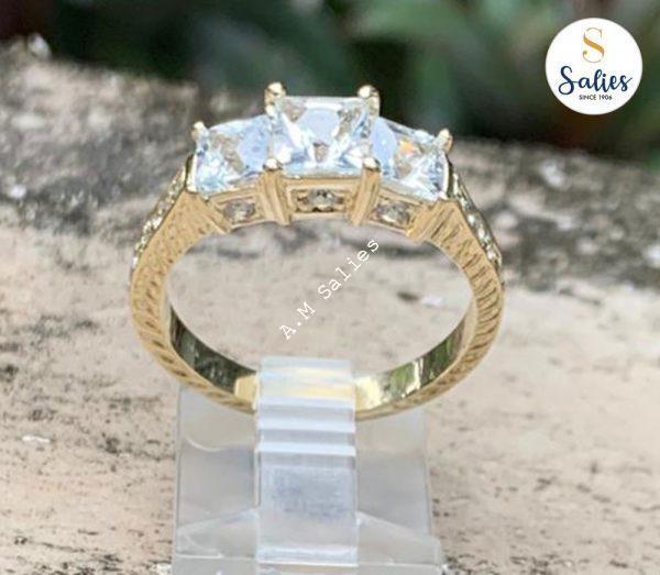 Yellow Sapphire Ring in 14 karat Yellow gold mount Stones