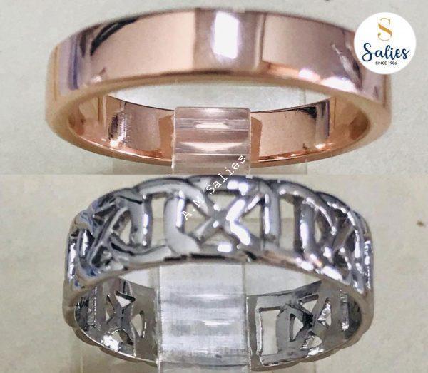 14k White gold and 14k Rose gold rings