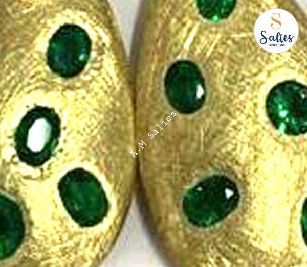 Restored Emerald Earrings